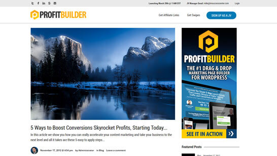 ProfitBuilder Discount screenshot