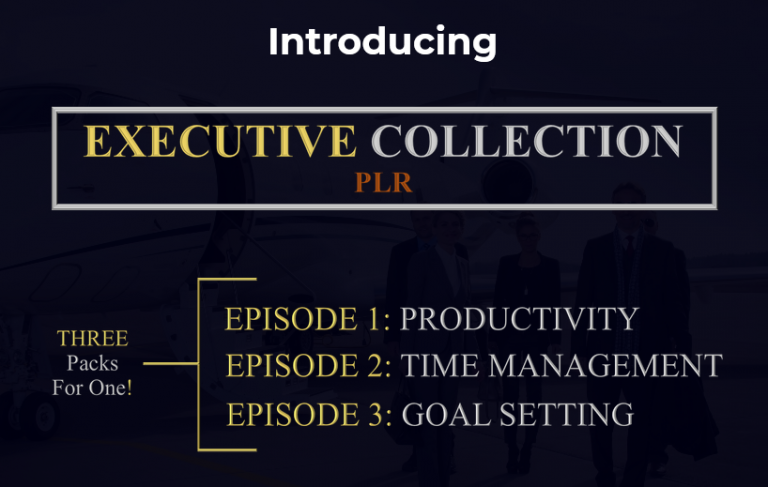 Executive Collection PLR Discount screenshot